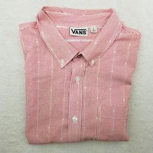 Vans Shirts - Vans Short Sleeve Pink Button Up Shirt Large